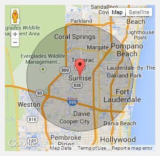 Dania Beach Florida Map.About Us Sunrise Dumpster Rental